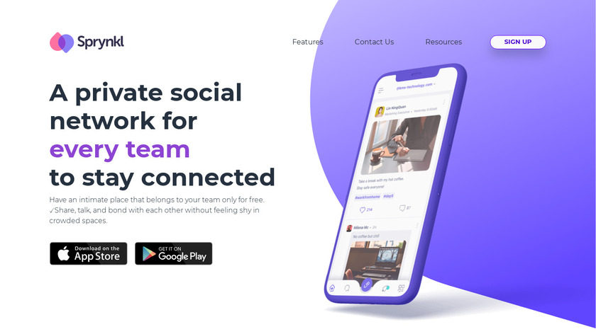 Sprynkl Landing Page