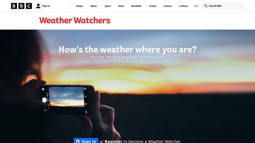 BBC Weather Watchers Landing Page