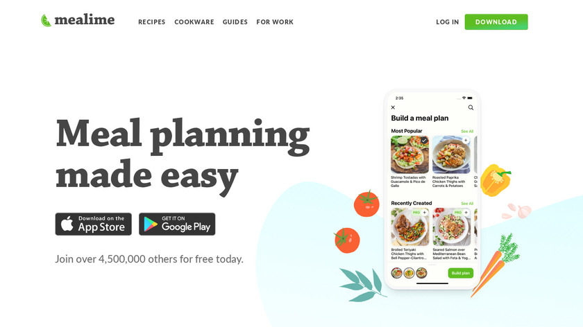 Mealime Landing Page