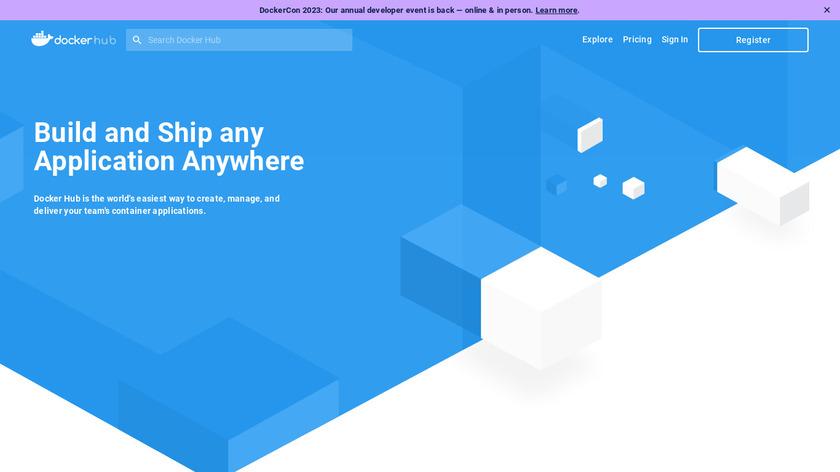 Docker Hub Landing Page