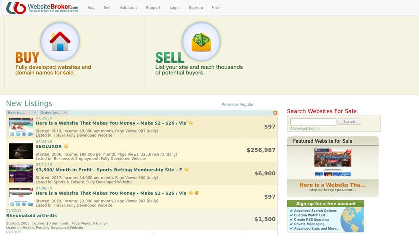 buysellwebsite Landing Page