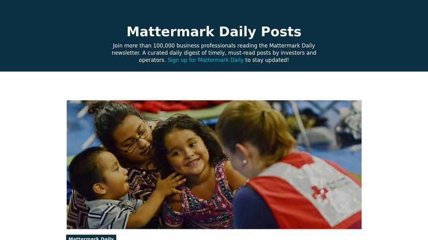 Mattermark Daily Landing Page