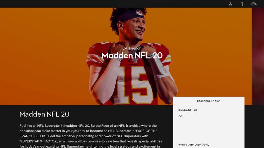 Madden NFL 16 Landing Page