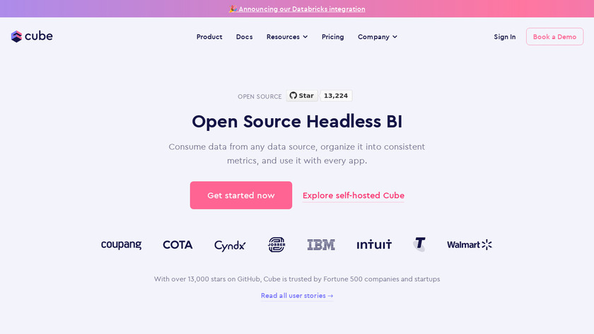 Cube.js Landing Page