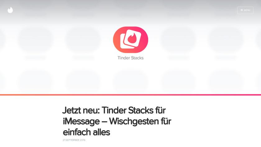 Tinder Stacks Landing Page