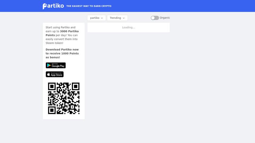 Partiko Landing Page