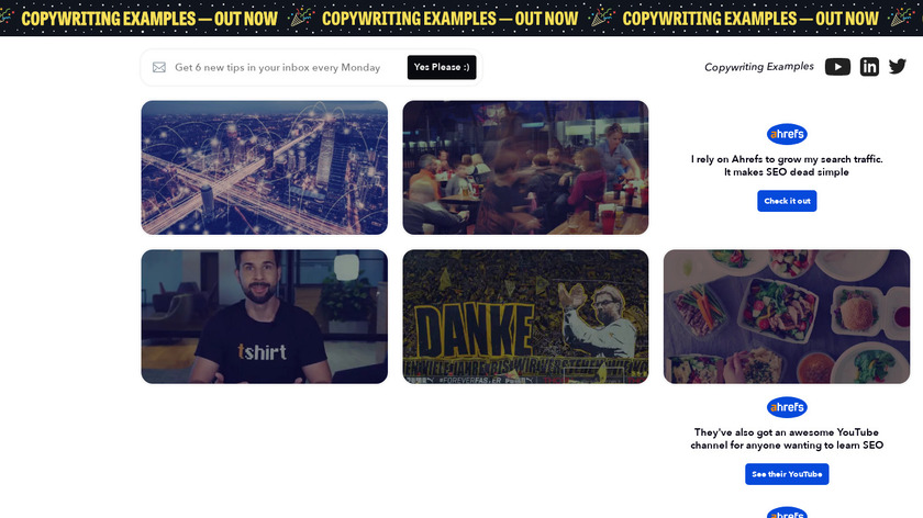 Marketing Examples Landing Page