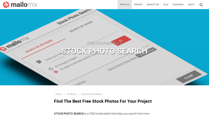 Mailomix Stock Photo Search Landing Page
