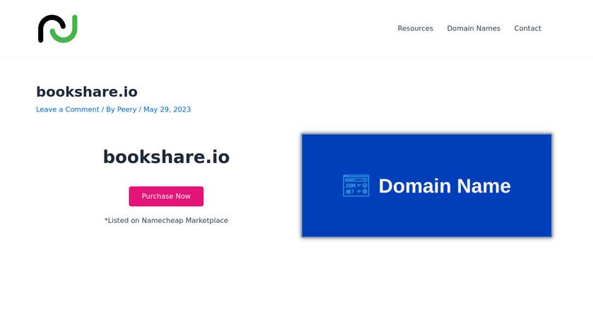 Bookshare Landing Page