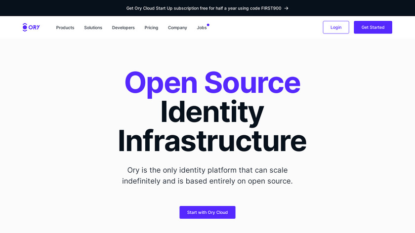 Ory Landing Page