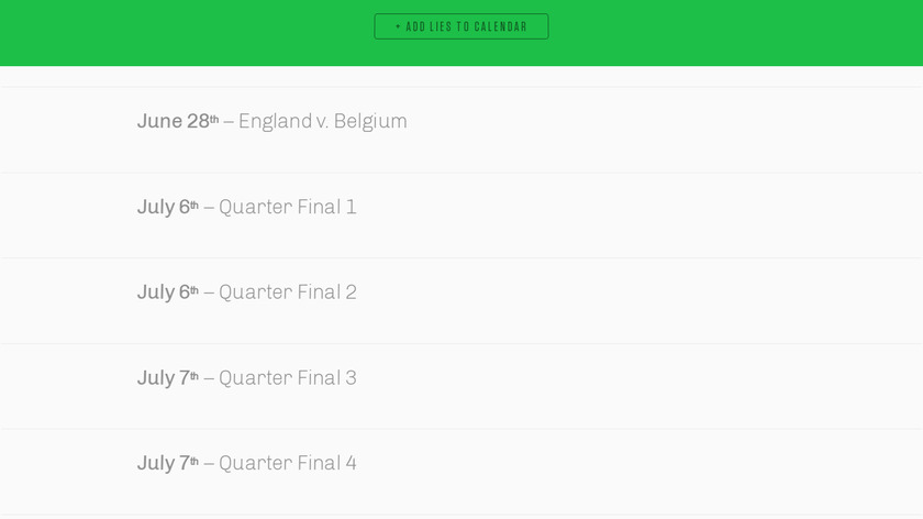 World Cup Calendar Blocker Landing Page