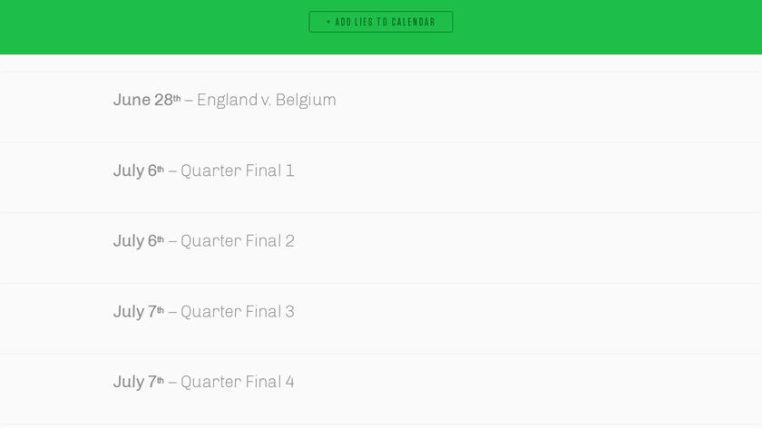 World Cup Calendar Blocker Landing Page