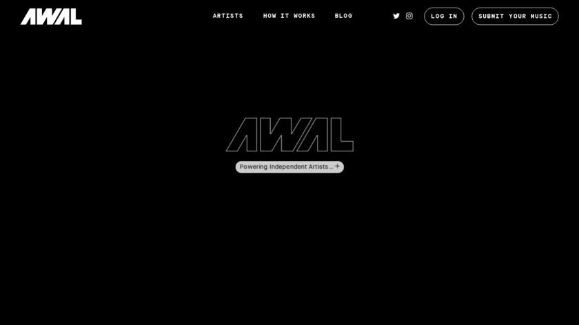 AWAL Landing Page