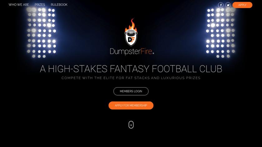 Dumpster Fire Landing Page