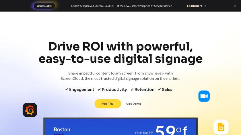 ScreenCloud Digital Signage Landing Page