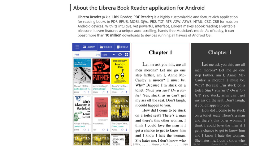 Librera Reader Landing Page