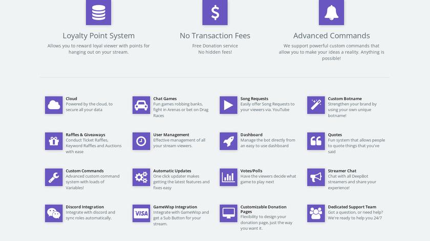 Deepbot Landing Page