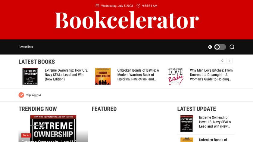 Bookcelerator Landing Page