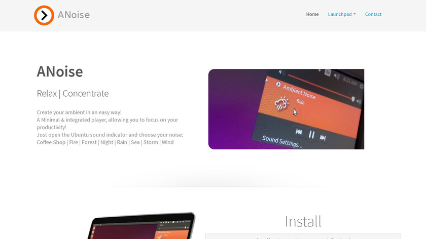 ANoise Landing Page