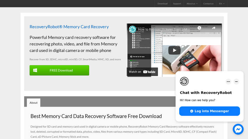 RecoveryRobot Memory Card Recovery Landing Page