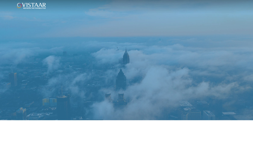 Vistaar Landing Page