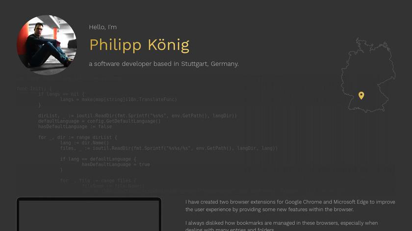 Bookmark Sidebar Landing Page
