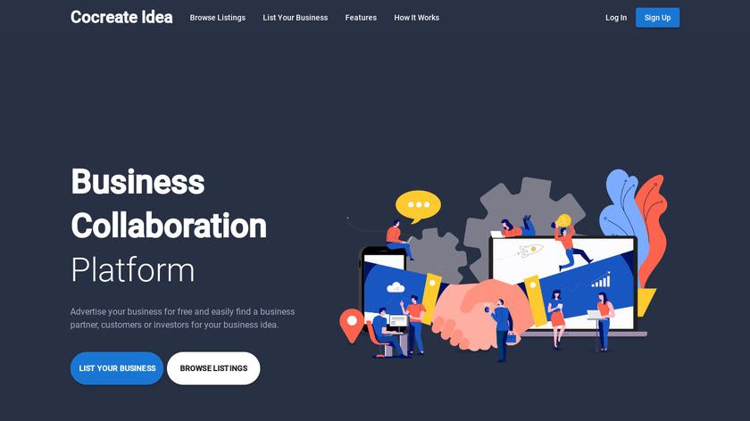 Cocreate Idea Landing Page