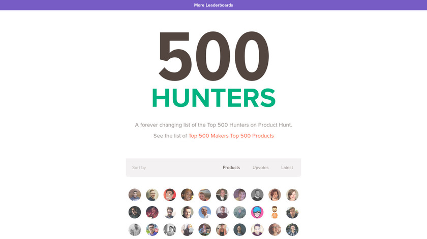 500 Hunters Landing Page