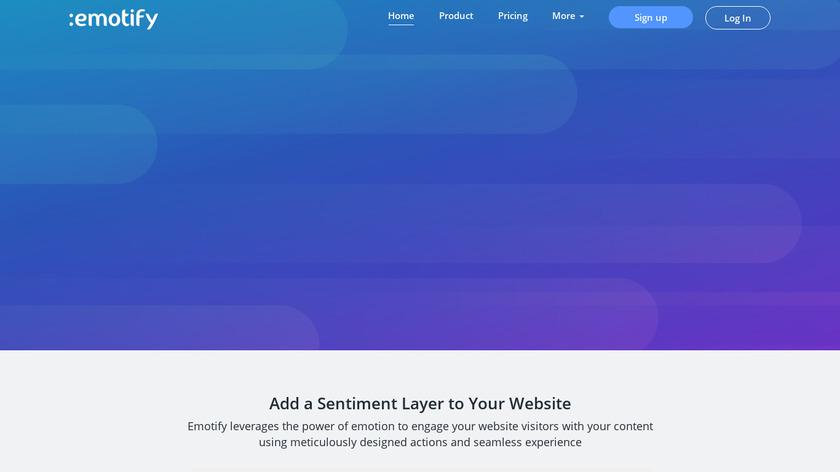 Emotify Landing Page