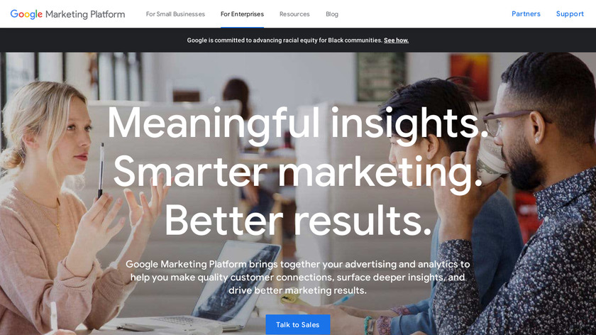 Google Analytics 360 Suite Landing Page