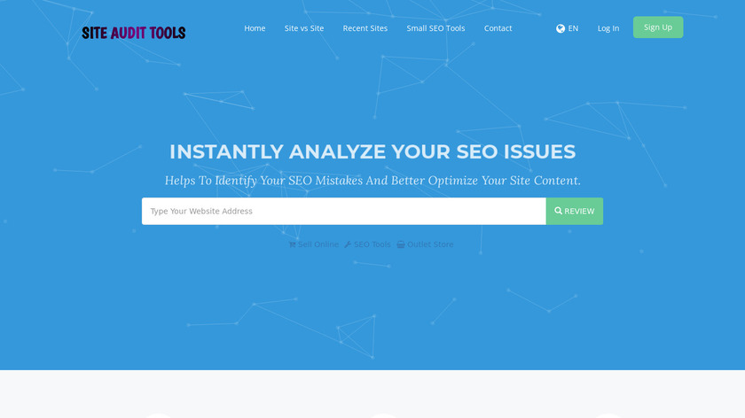 SiteAuditTools.com Landing Page