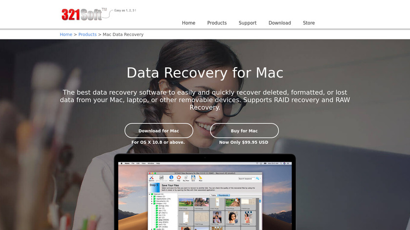 321Soft Data Recovery for Mac Landing Page