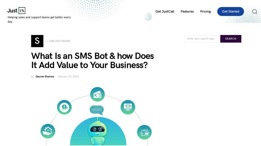 SMS Bot Creator Landing Page