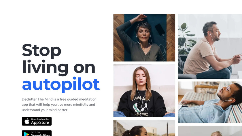 Declutter The Mind Landing Page