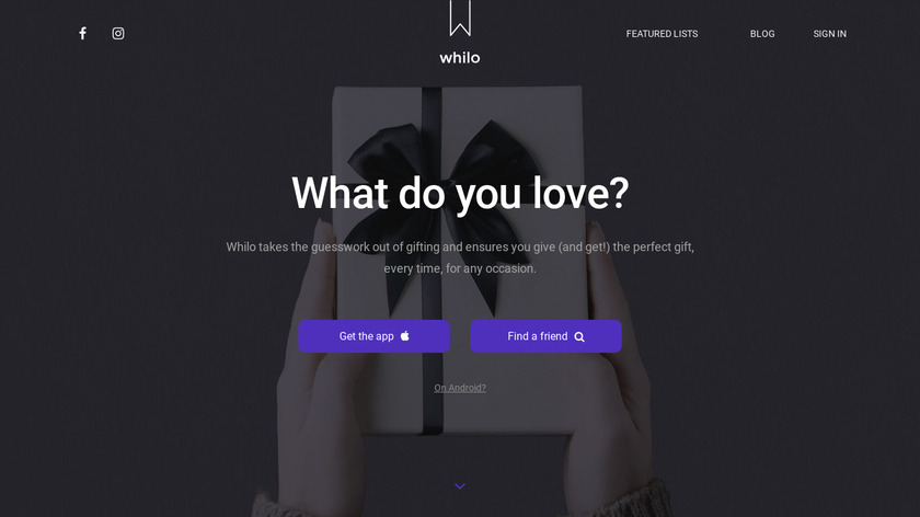 Whilo - Gifting Made Easy Landing Page