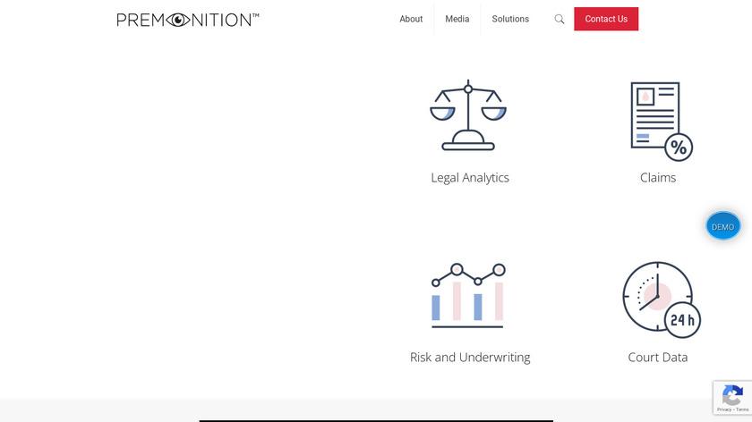 Premonition Analytics Landing Page
