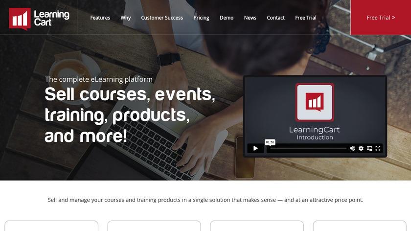 LearningCart Landing Page