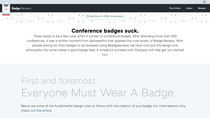 Badge Reviews Landing Page