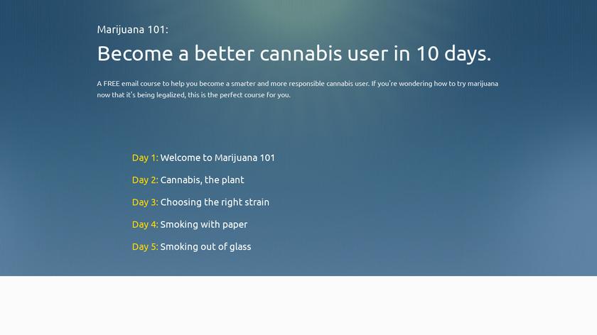 Marijuana 101 Landing Page