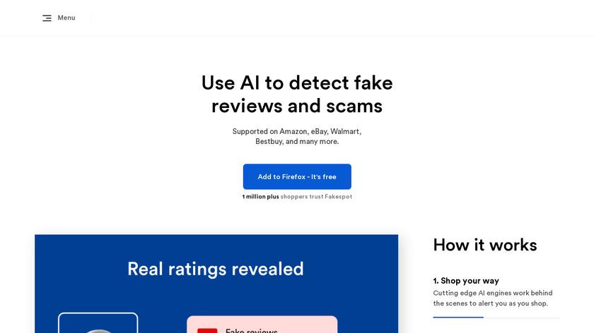 Fakespot Landing Page