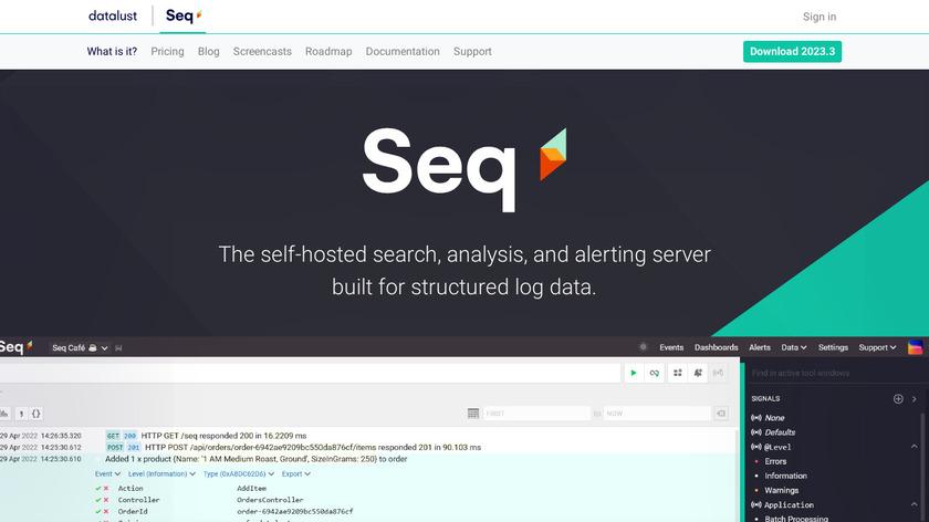 Seq Landing Page