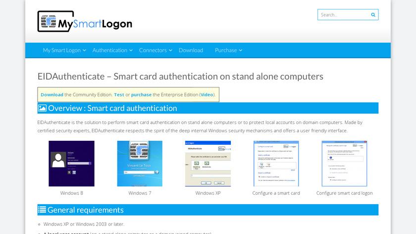 EIDAuthenticate Landing Page