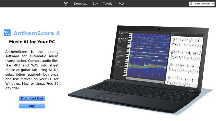 AnthemScore Landing Page