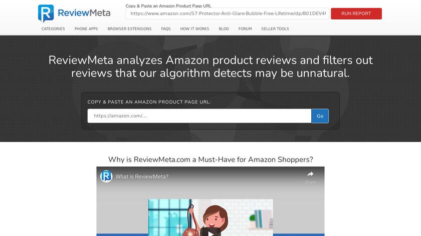 ReviewMeta.com Landing Page