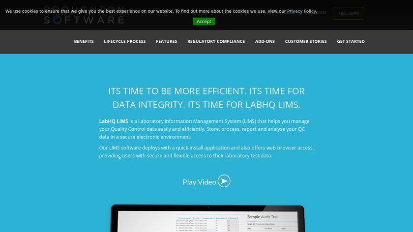 LABHQ LIMS Landing Page