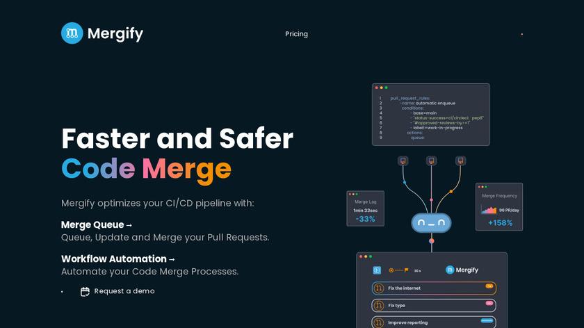 Mergify Landing Page