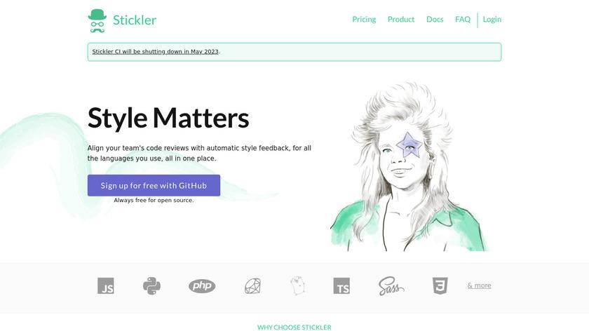Stickler CI Landing Page