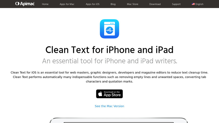 Clean Text Landing Page