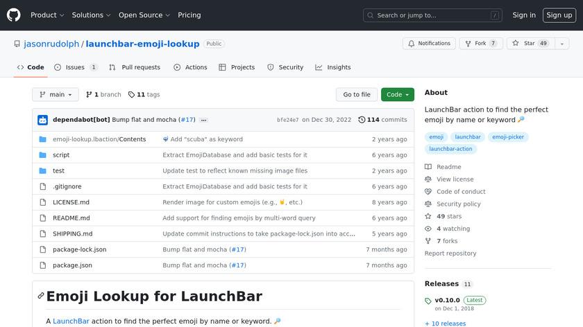 Emoji Lookup for LaunchBar Landing Page
