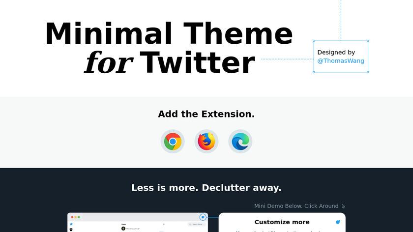 Minimal Twitter Landing Page
